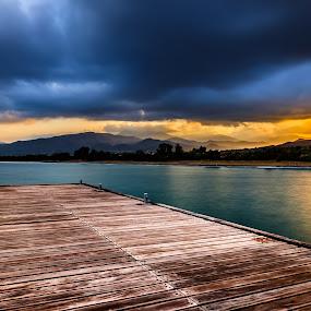 Sunrise by Theodoros Theodorou - Landscapes Sunsets & Sunrises ( hills, 16mm f1.4 r wr, wood, argaka, fujifilm, x-t1, sea, sunrise, cyprus,  )