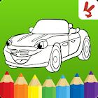ぬりえページ:  車 icon