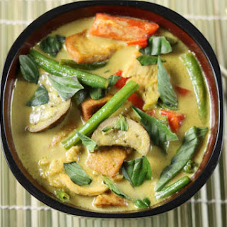 Thai Green Curry with Chicken.
