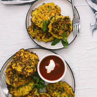 Leek Fritters with Carrot and Turmeric Recipe