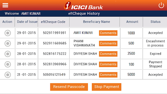 ICICI Bank eftCheques - Apps on Google Play