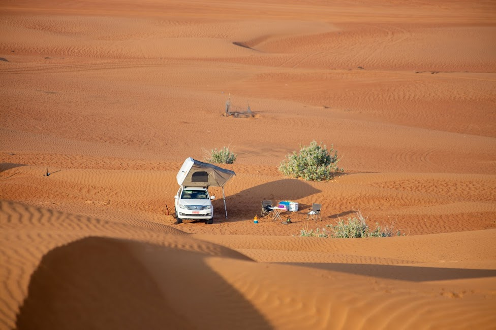 Z namiotem po Omanie, kemping, pustynia