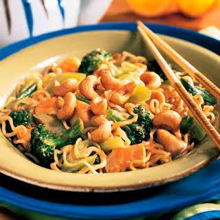 Cashew Chicken & Broccoli Stir-Fry.