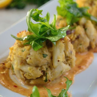 Crab Cakes with Spicy Creole Mustard Aioli.
