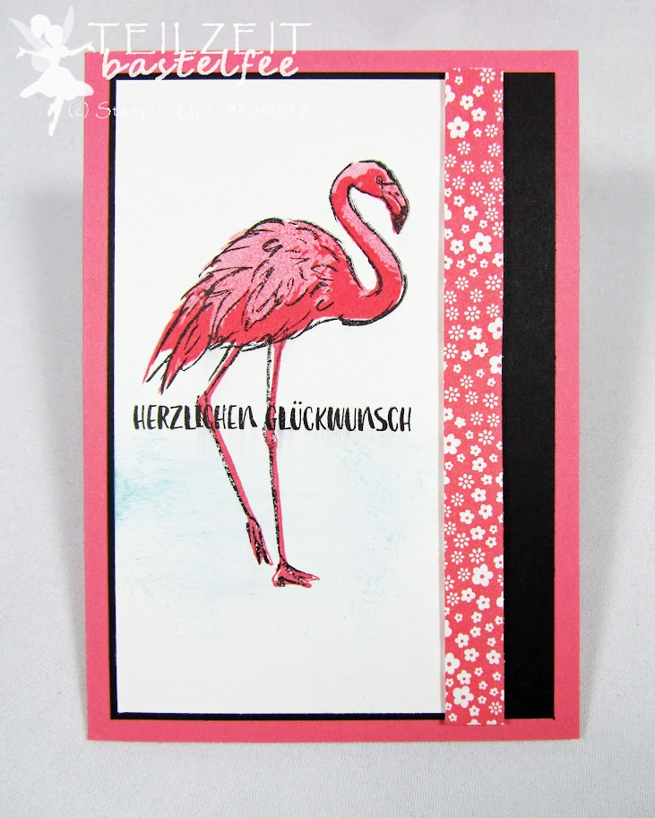 Stampin' Up! - Inkspire_me, Sketch Challenge, Flamingo Fantasie, Birthday Card, Fabulous Flamingo