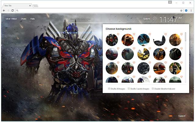Transformers wallpaper hd new tab themes chrome web store - Chrome web store wallpaper ...