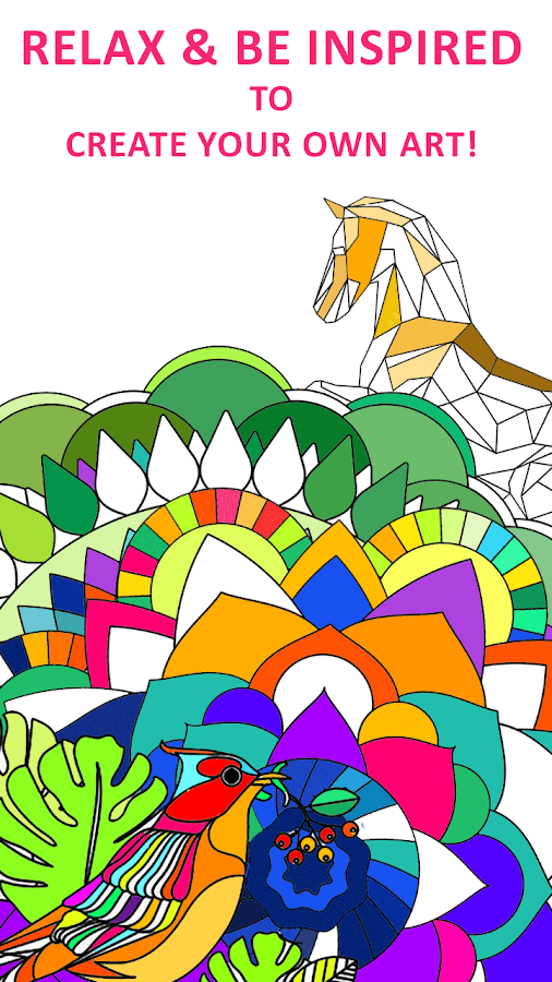 coloring book for adults screenshot