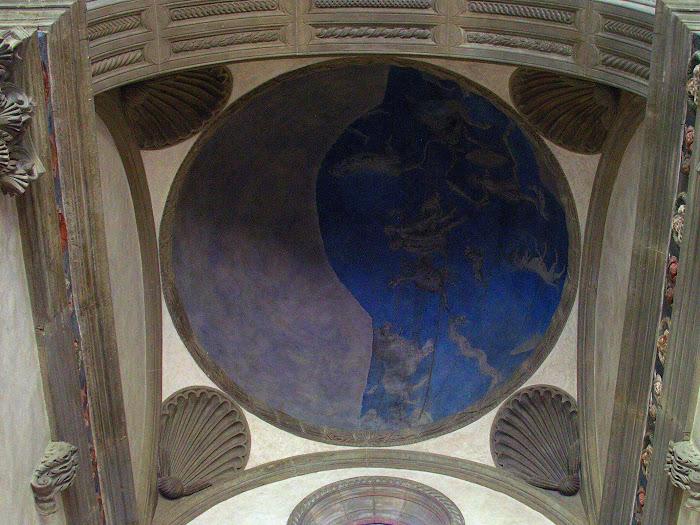 Il Pesello e aiuti, emisfero celeste della Cappella Pazzi, 1454 circa, Basilica di Santa Croce