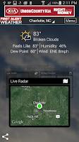 Screenshot of WBTV First Alert Weather