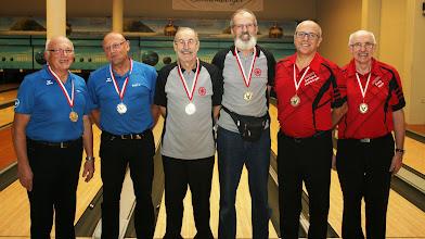 Photo: LM Senioren-Doppel: 1. Platz BVOÖ1, 2. PLatz BCA2, 3. Platz BCA3