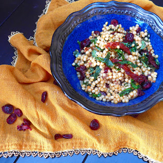 Cranberry and Sundried Tomato Israeli Couscous with Sundried Tomato Aioli