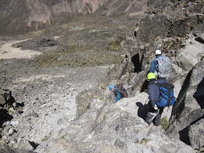 Photo: Descending - Shipton's Camp and Kami Camp in background