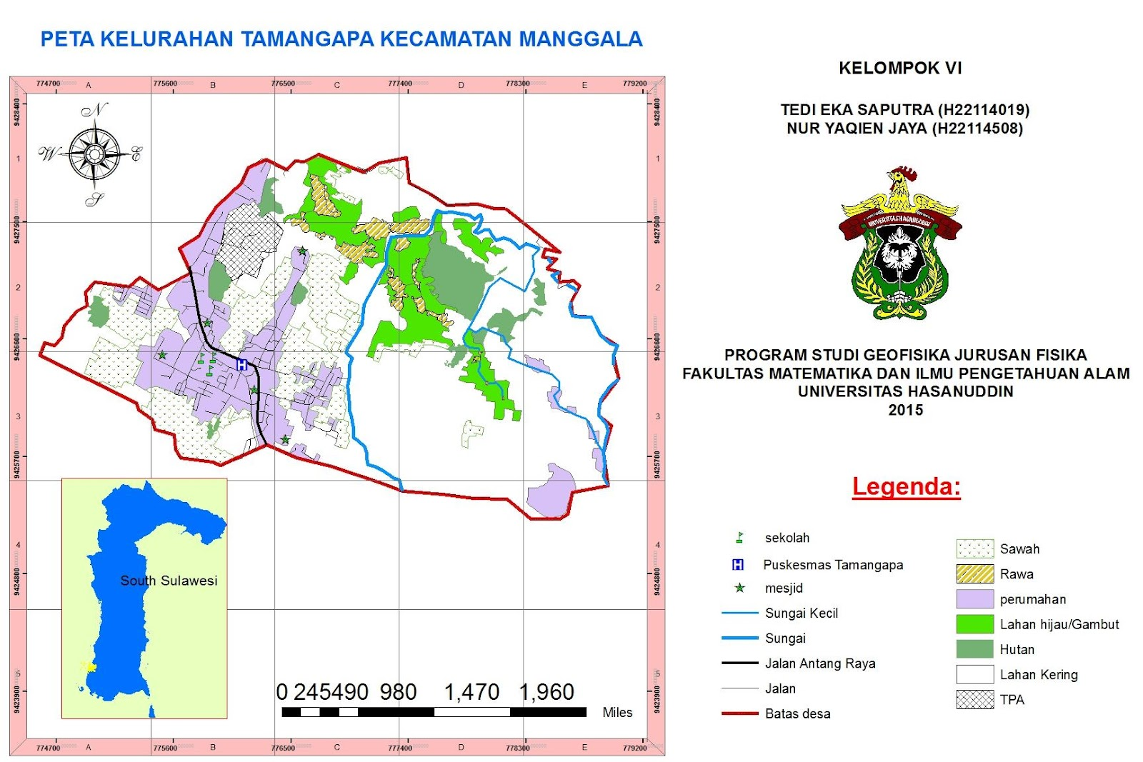 Hasil digitasi arcgis