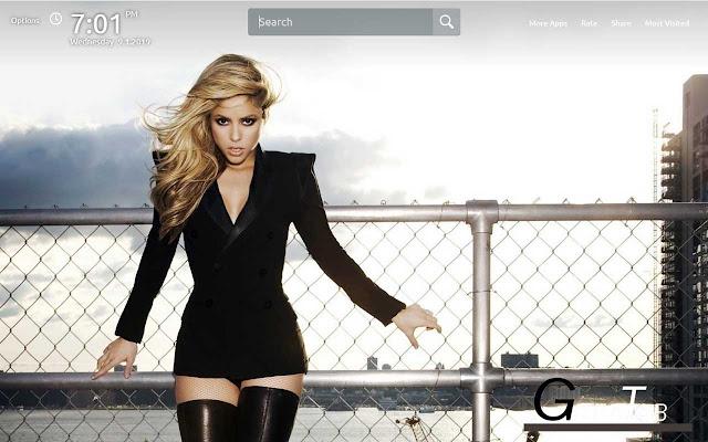 Shakira Wallpapers Theme GreaTab