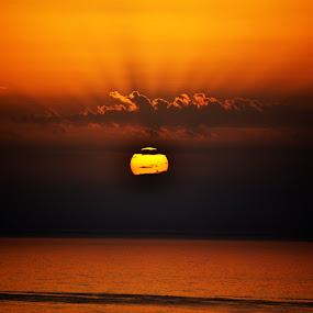 Few seconds paradise II by Daniela Elena - Landscapes Sunsets & Sunrises ( lovely view, sunset, seaside, paradise )