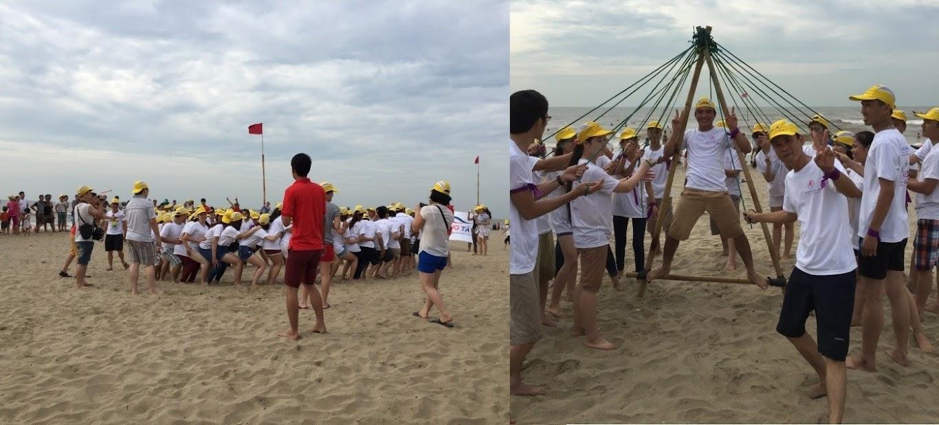 Team buildng đốt cháy bãi biển Sầm Sơn