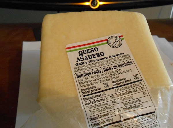 Nutritional value for Asadero cheese