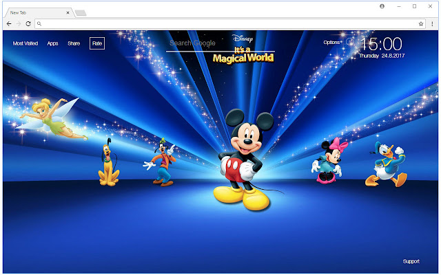 Mickey Mouse Wallpaper HD New Tab Themes