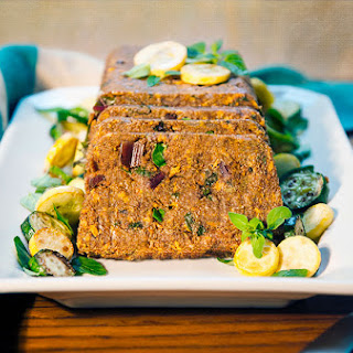 African Spiced Teff and Vegetable Loaf.