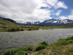 Photo: Salmon River and Swatooth Range From Lower Stanely, Idaho