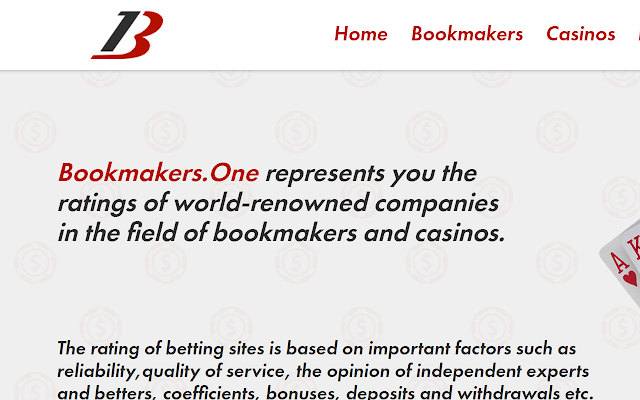 Quick access to Bookmakers.one