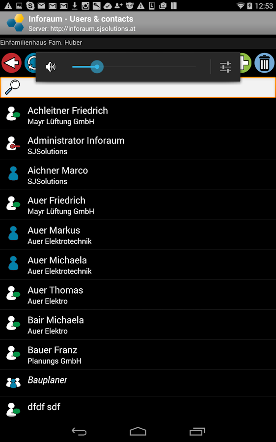 Inforaum   Client – Screenshot