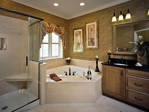 Photo: The master bathroom found in our MULBERRY model home at Southwick Meadows in Clifton Park, New York