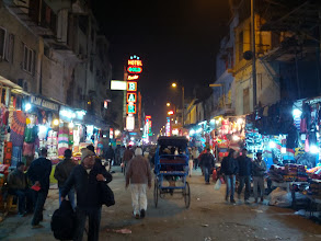 Photo: A night shot down Main Bazaar Street, where our first hotel was located. Reminds me a lot of Koh San Road in Bangkok, but much longer. It's loud, bustling and teeming with vendors. I though it was amazing, until I tried to sleep.