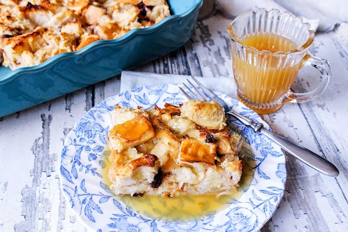 Shyla's Bread Pudding With Buttery Bourbon Sauce