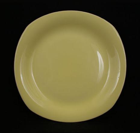 gul glasyr Assiett 20,5 cm