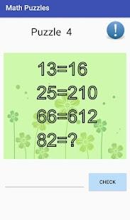 Math Puzzles PRO 2018 Screenshot
