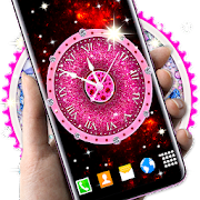 Diamond Clock Wallpaper \ud83d\udc8e Glitter Live Wallpapers