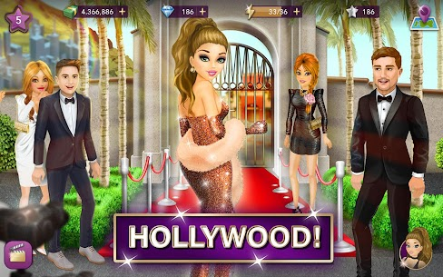 Hollywood Story Mod Apk Fashion Star 10.1 (Free Shopping) 6