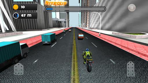 近代的な高速道路の自転車レースBike Racing