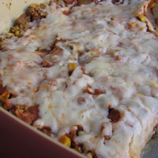 Slim & Healthy Ground Beef Enchilada Casserole.
