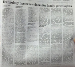 Photo: Our article re TNGenWeb in the Clarksville Leaf Chronicle newspaper today - 2/26/12 pg. A5