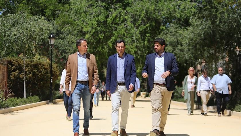 A la izquierda, los dos presidentes que estarán el lunes en Almería.