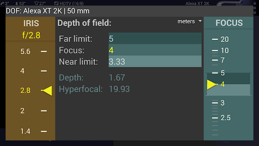 Magic ARRI ViewFinder Free screenshot 5