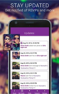 Text Invitations - PurpleSlate- screenshot thumbnail
