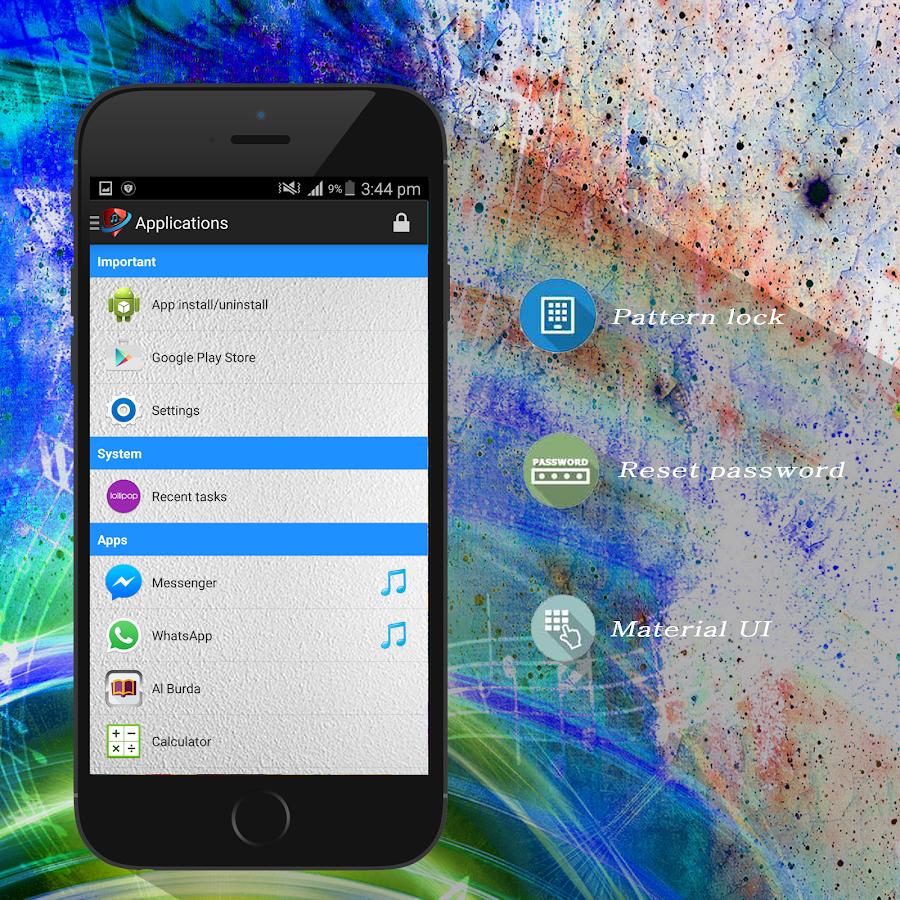 Google themes music - Music Theme Applock Screenshot