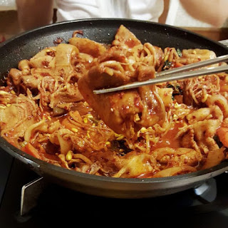 Baek Jong Won's Spicy Bean Sprout Pork Bulgogi (Kongnamul Bulgogi)