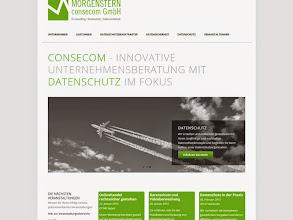 Photo: Referenz Webdesign: Morgenstern consecom GmbH (HTML5/CSS3, responsive Design, WordPress)