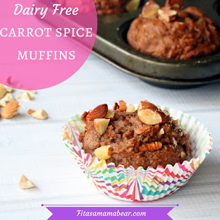 Dairy Free Carrot Spice Muffins.