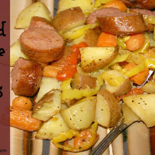 Roasted Sausage and Vegetables.