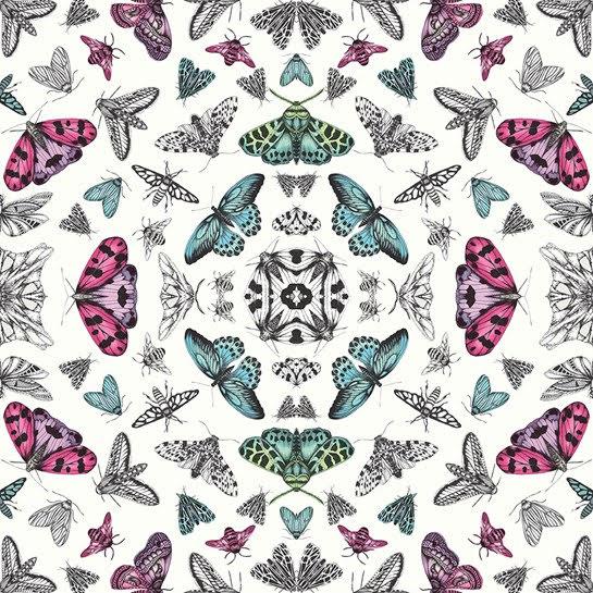 Fantasia Glitter Bug Vit tapet från Arthouse