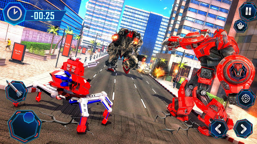 Spider Robot Car Transform Action Games  screenshots 14