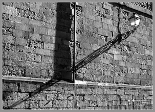 Photo: the lengthened shadow of a street lamp. Merry Christmas to all my G + friends and their families!.