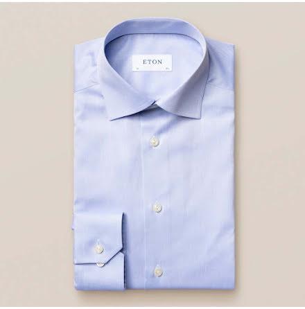 ETON ljusblå signature twill contemporary fit extra long sleeve