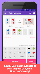 Download Calculator+ Texas Hold'em poker odds calculator For PC Windows and Mac apk screenshot 1