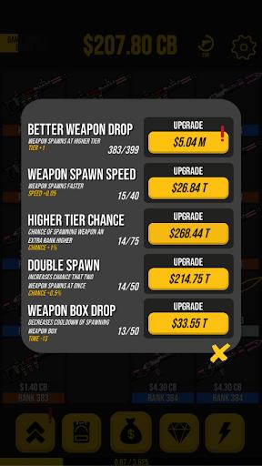 Code Triche Idle Weapon Tycoon - Pixel Royale Evolution  APK MOD (Astuce) screenshots 6